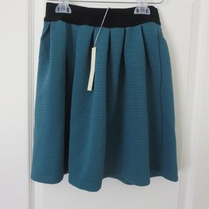 LC Lauren Conrad Teal Skirt XS Textured Stretch